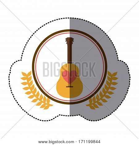 symbol guitar icon stock image, vector illustration