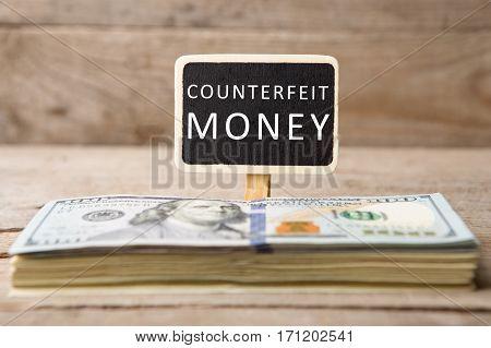 Dollar Bills, Blackboard With Text