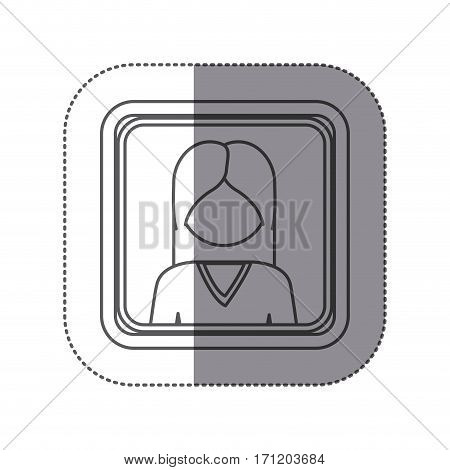 people woman icon stock image, vector illustration