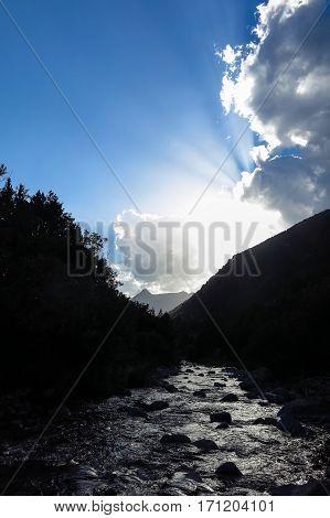 Sant Nicolau River, Catalan Pyrenees, Spain