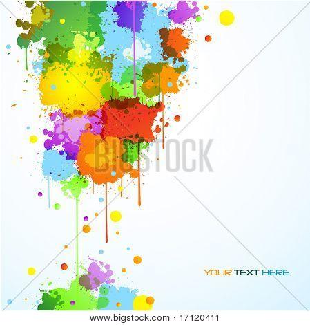 Colorful paint splats background