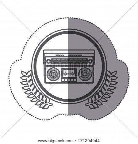 symbol stereo icon image, vector illustration design