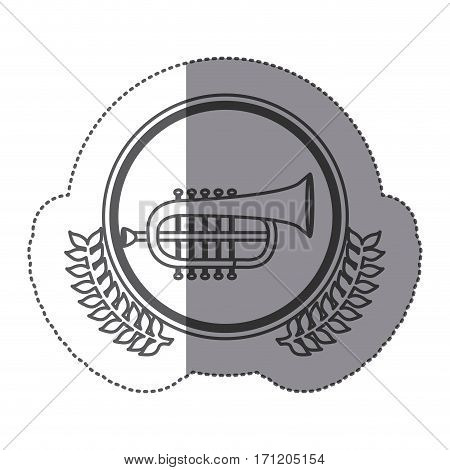 symbol trumpet icon stock, vector illustration image