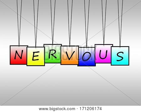 Illustration of nervous written on hanging tags