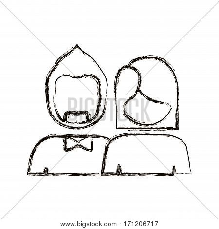 people couple icon stock, vector illustration image