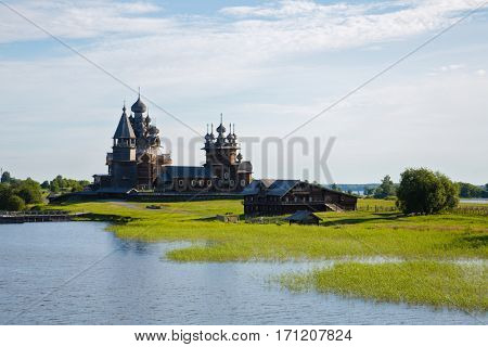 Kizhi Pogost - architectural ensemble is located on the Kizhi island of Lake Onega. Karelia, north of Russia.