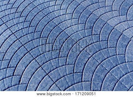 Blue Toned Pavement Surface.