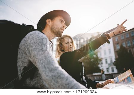 Young Tourist Couple On A Holiday.