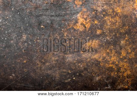 Old rusty metal surface texture. Aging concept