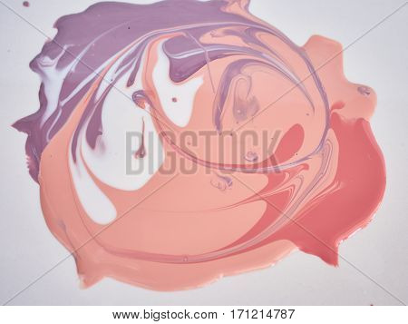 Texture of nail polish. Abstract bright background.