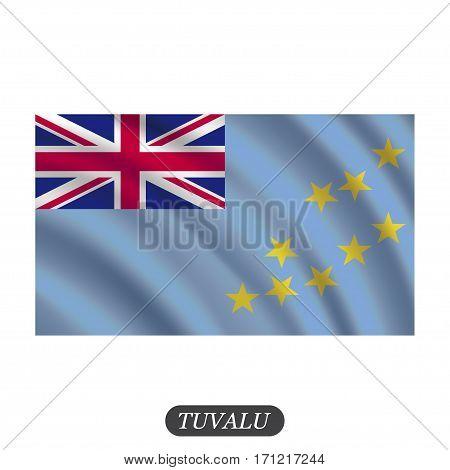 Waving Tuvalu flag on a white background. Vector illustration