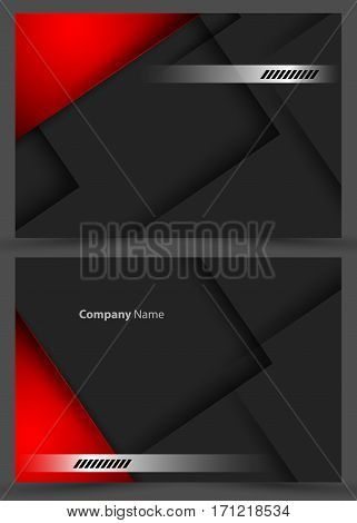 Vector corporate cards templates set. Elements for design. Magazine, annual reports vector templates. Eps10
