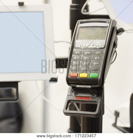 The image of a cash machine