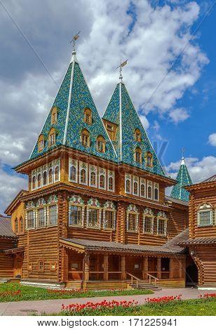 The Wooden Palace of Tsar Alexei Mikhailovich in Kolomenskoye Moscow