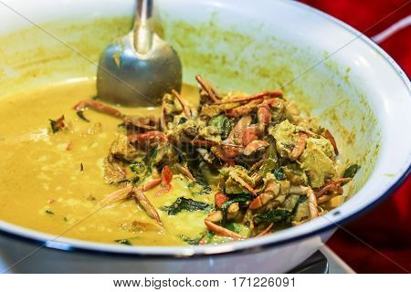 Southern Thailand Yellow Curry Soup With Crab Meat
