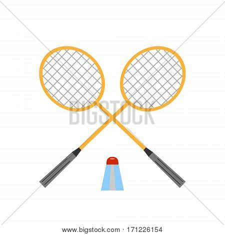 Badminton icon Vector Illustration on the white background