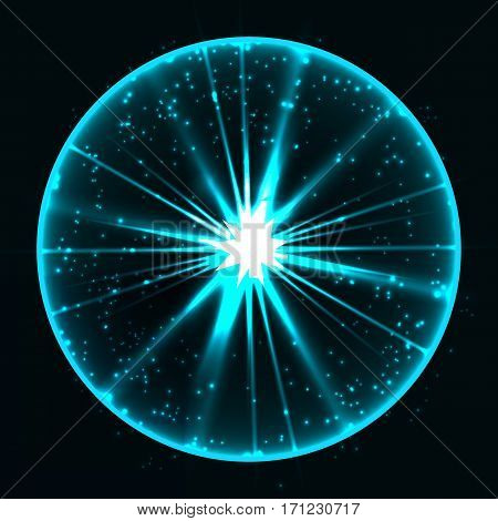 Abstract plasma sphere. Vector illustration contains transparency and blending effect
