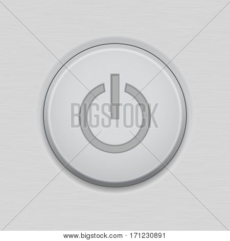 Power standby button. User interface or device main icon. Vector illustration