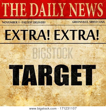 target, article text in newspaper
