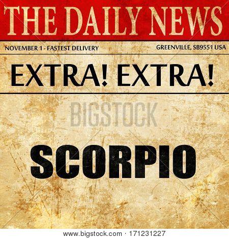 scorpio, article text in newspaper