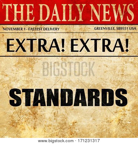 standards, article text in newspaper