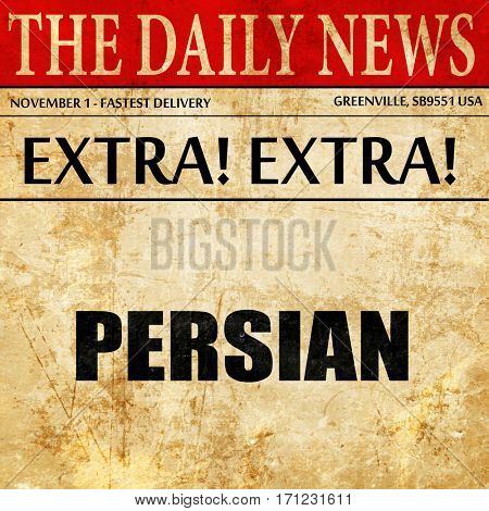 persian, article text in newspaper