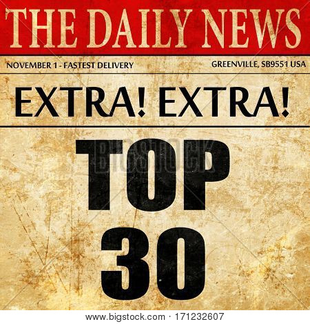 top 30, article text in newspaper