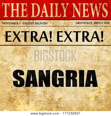sangria, article text in newspaper
