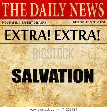 salvation, article text in newspaper