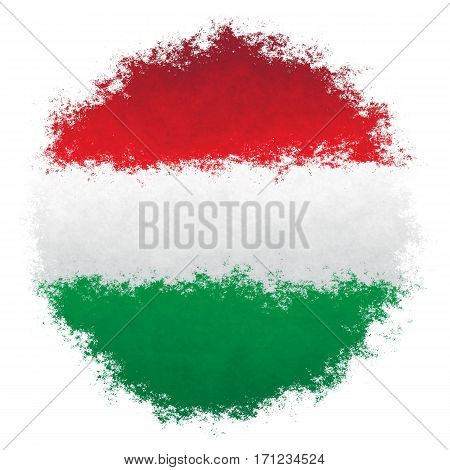 Color spray stylized flag of Hungary on white background