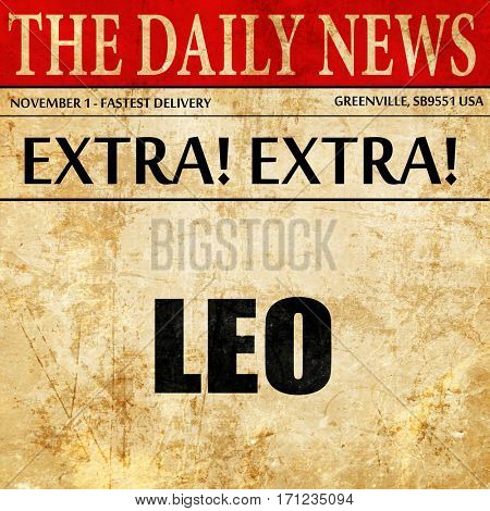 leo, article text in newspaper