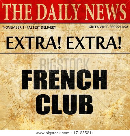 french club, article text in newspaper