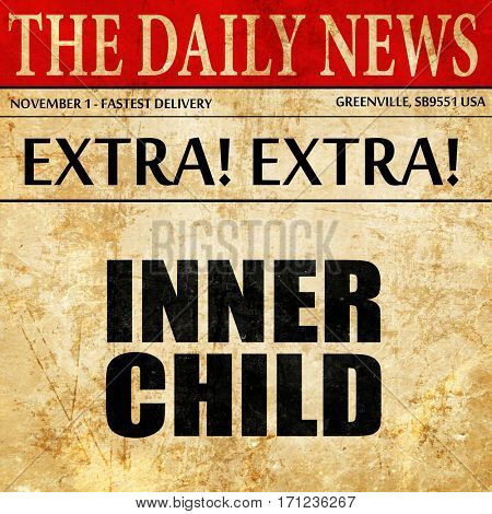 inner child, article text in newspaper