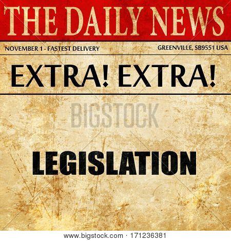 legislation, article text in newspaper