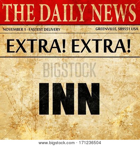 Inn, article text in newspaper