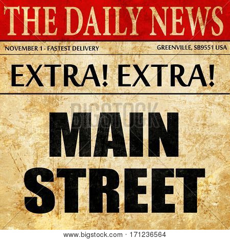main street, article text in newspaper