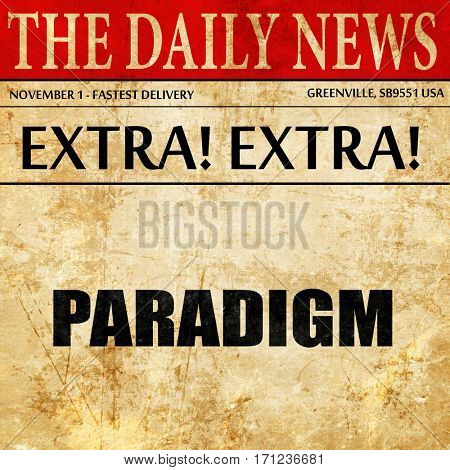paradigm, article text in newspaper