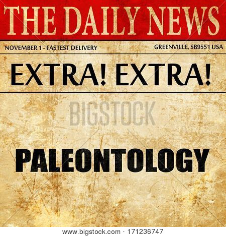 paleontology, article text in newspaper