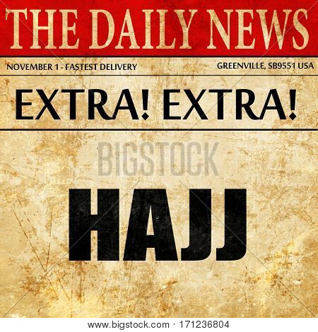 hajj, article text in newspaper