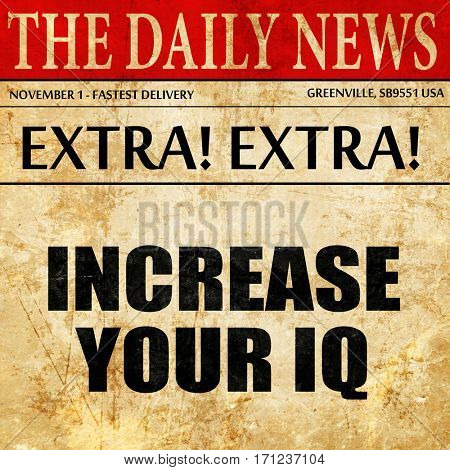 increase your iq, article text in newspaper