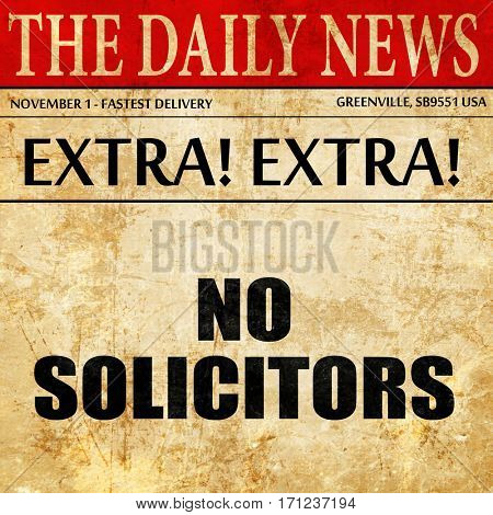 no solicitors, article text in newspaper