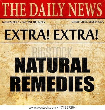 natural remedies, article text in newspaper
