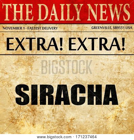 siracha, article text in newspaper