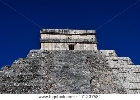 Top of Temple at Chichen Itza mexico