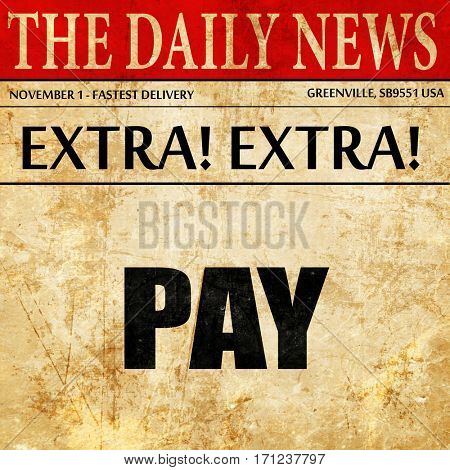 pay, article text in newspaper