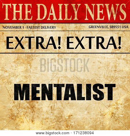 mentalist, article text in newspaper