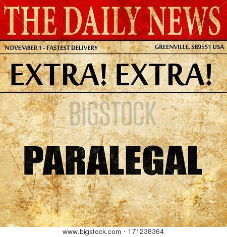 paralegal, article text in newspaper