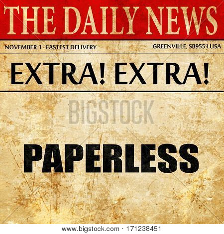 paperless, article text in newspaper