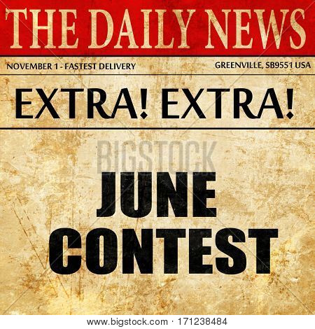 june contest, article text in newspaper