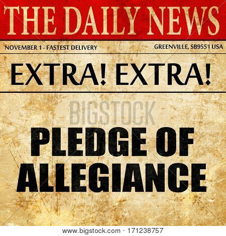 pledge of allegiance, article text in newspaper